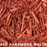 red hardwood mulch