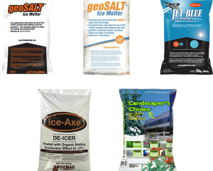 Bags of Salt and De-Icers