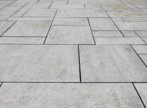 Close up of high-quality grey patio stones.