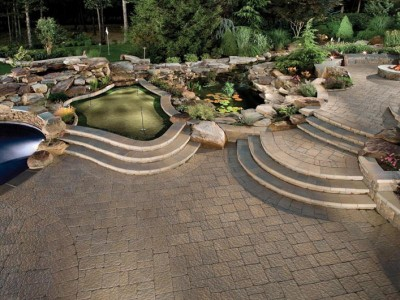 Beautiful backyard landscape design project.