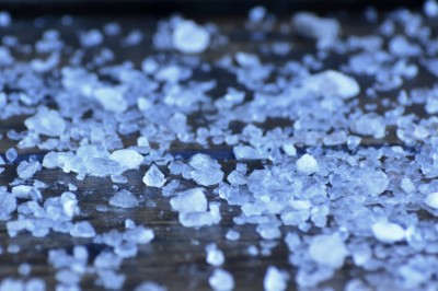 Close-up of rock salt.